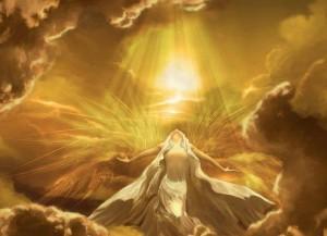 receiving the golden light of God
