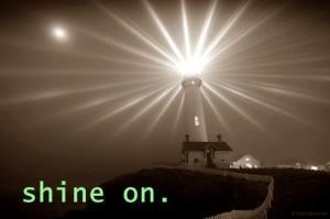 light shine on